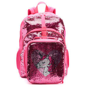 Flip Sequin Unicorn School Backpack & Lunch Box